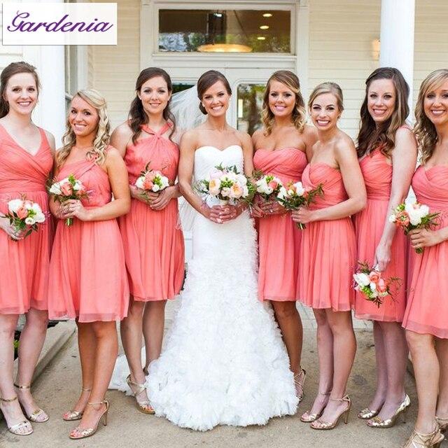 Nuevo estilo del verano del banquete de boda corto una línea ...