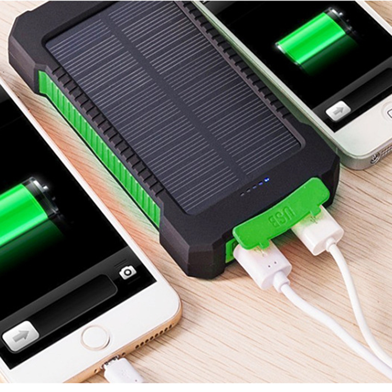 No Battery Solar Led 50000mah Power Bank Charger Case Kit 14.9cm X 7.4cm X 1.8cm Mobile Phone Accessories 1pcs Diy Waterproof Dual Usb