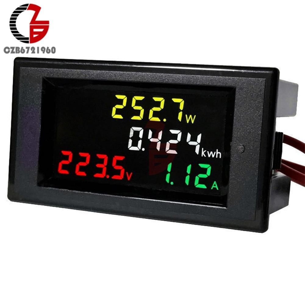 100A AC 80-450V LED Digital Voltmeter Ammeter AC 110V 220V Power Energy Voltage Current Meter Charger Tester Detector Monitor
