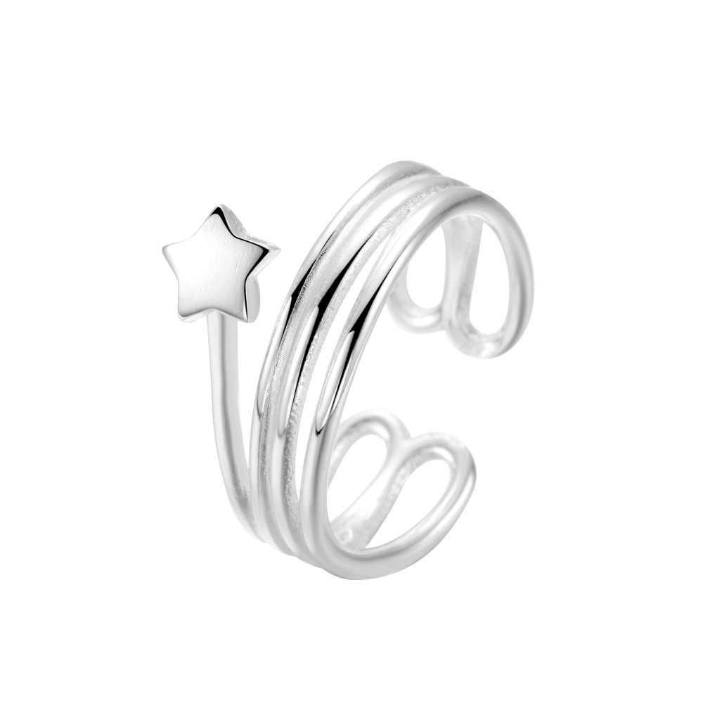 Cxwind модные кольца со звездами для женщин палец многослойное открытие очаровательное кольцо Свадебная яркая бижутерия для вечеринки