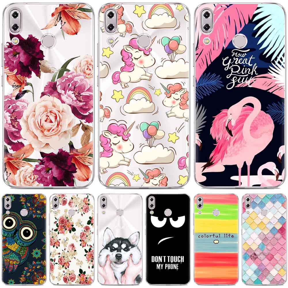 Asus Zenfone 5 ZE620KL case silicon cute animal flower cartoon painted soft TPU case for Asus Zenfone 5Z case Asus ZS620Kl cover