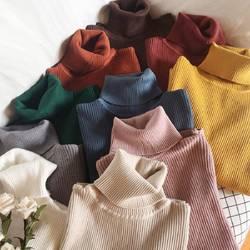 Кашемировый свитер Женский водолазка пуловеры с длинным рукавом Повседневный вязаный свитер женский 2018 осень и зима женский свитер