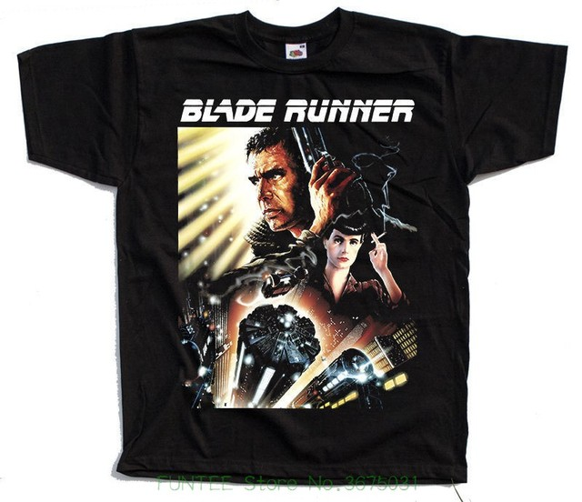 70e780a7f Summer 2018 Short Sleeve Plus Size Blade Runner V3 , Movie Poster , 1982 T  Shirt Black All Sizes S To 5xl