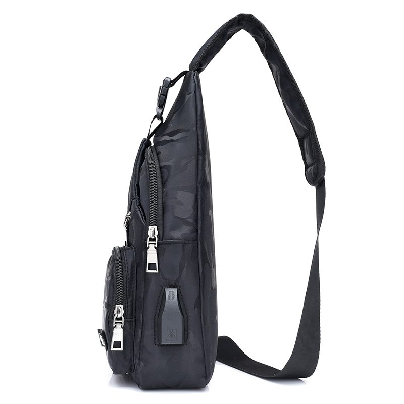 Camouflage Men Casual Chest Pack USB Charging Shoulder Bag Travel Male Messenger Bag Multifunctional Mens Crossbody Bags Nylon in Waist Packs from Luggage Bags