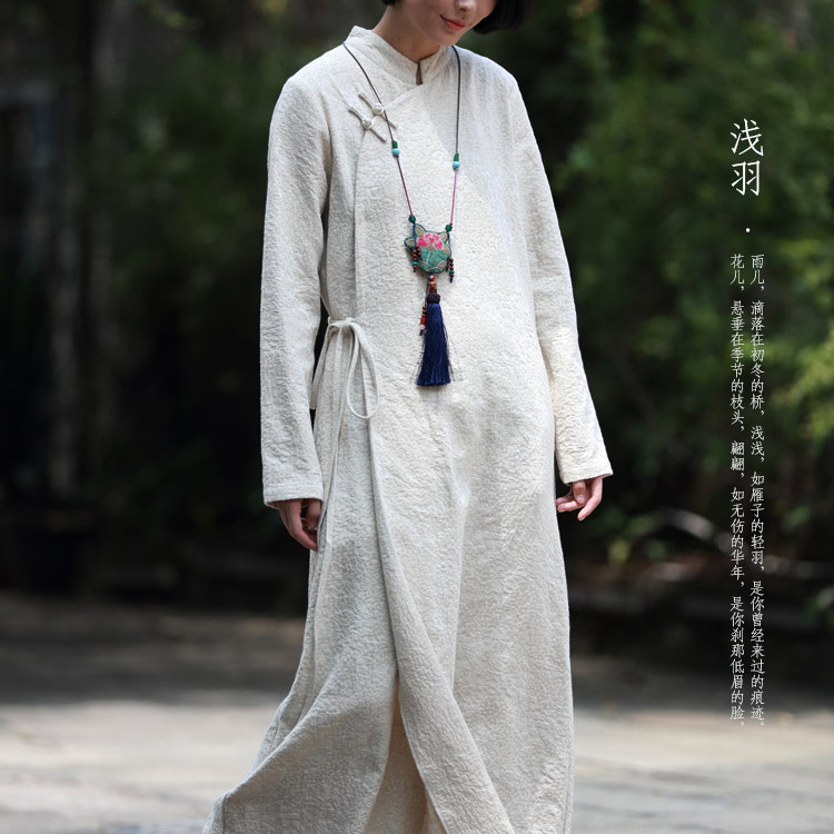 Beautiful Blouse Original Chinese Style Womens Wear Literature Retro Irregularity Frenulum Simple Sackcloth Female Shirts N229 Blouses & Shirts