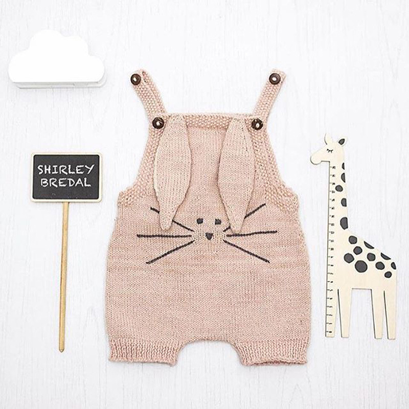 Hand Knitting Romper Newborn 100% Cotton Rompers Baby Warm jumpsuit for Infant Girls Boys Antumn Rabbit Style Clothes Jumpsuits 2016 newborn baby clothes 100%cotton baby boys and girls rompers infant overalls warm baby clothing body suit jumpsuits