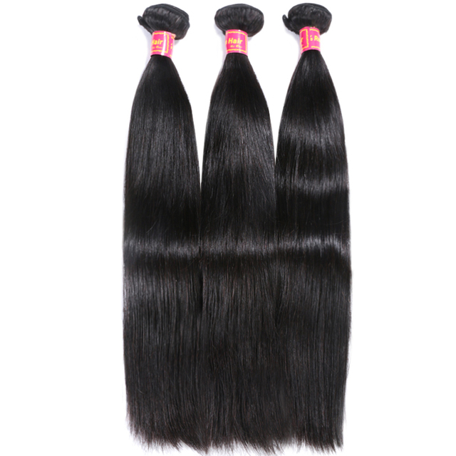 Brazilian Straight Hair Weave 1 Piece Natural Black Remy Hair Free Shipping Ali Queen Hair Products 100% Human Hair Bundles