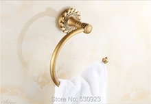 Newly US Free Shipping Traditional Antique Brass Bathroom Towel Ring Rack Bath Towel Holder Shelf Wall