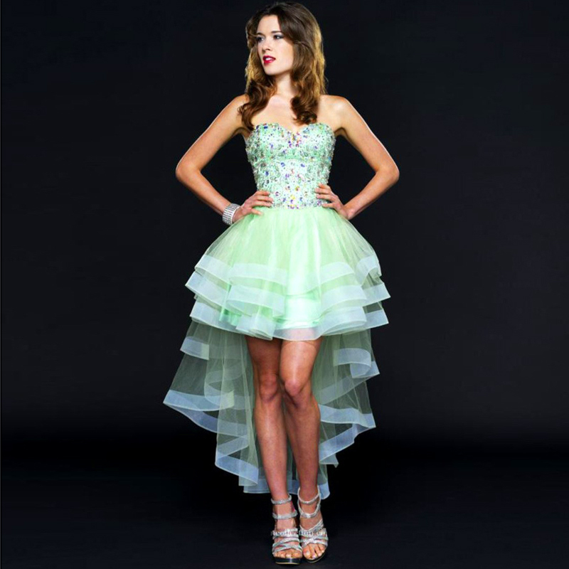 Online Get Cheap Green High Low Prom Dress -Aliexpress.com ...