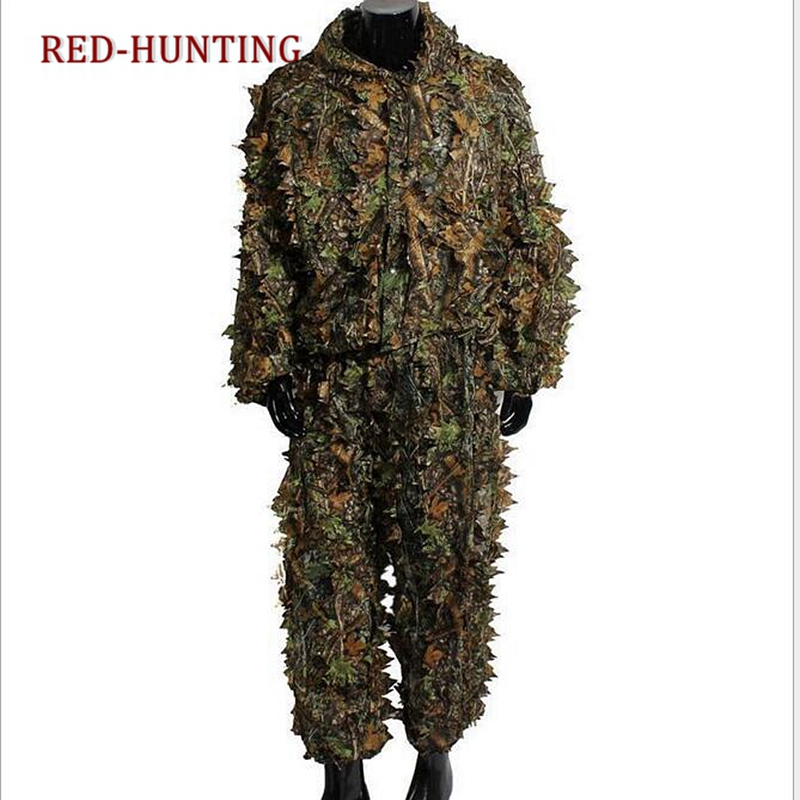 Clothing, Shoes & Accessories Ghillie Suit 3d Camouflage Hunting Apparel Tactical Hunting Forest Woodland Camouflage Suit Ghillie Suit 4pcs With Bag For Sale