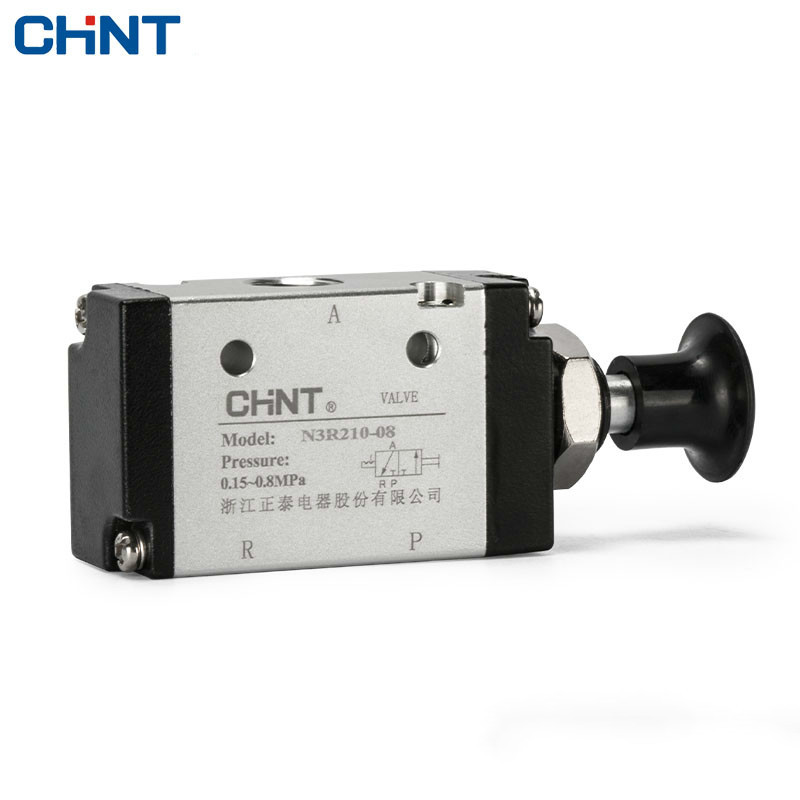 CHINT Hand Pull Valve Mechanical Valve Manual Valve Pneumatic Switch Two Position Tee N3R210-08