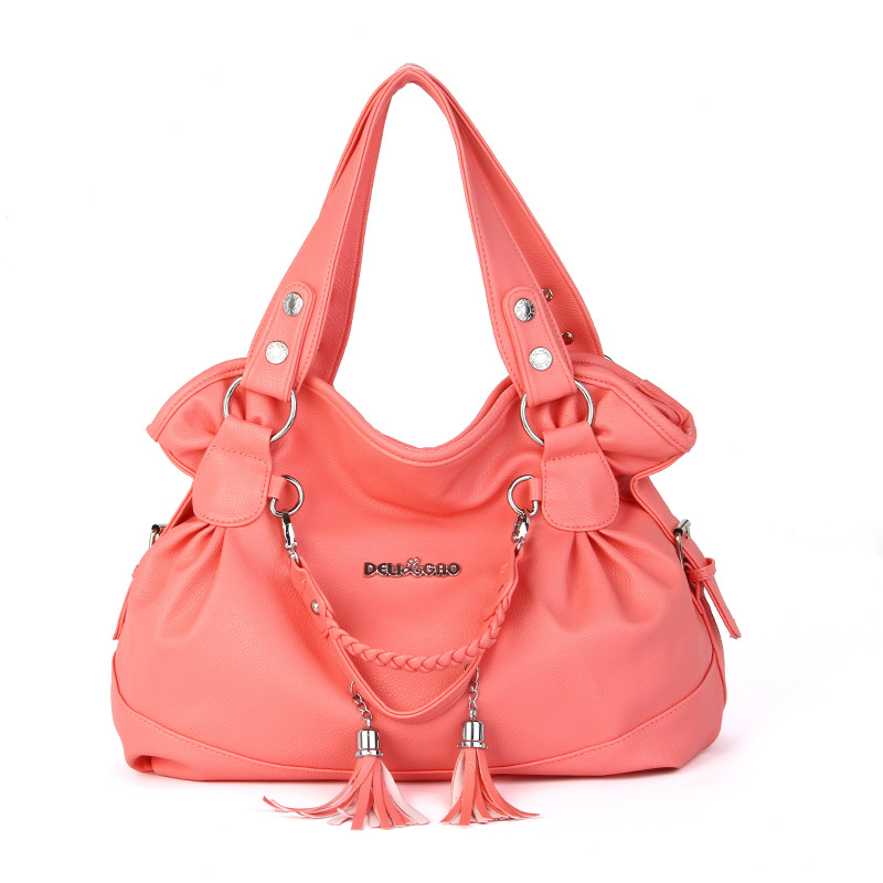 010318 New Hot Women Handbag Female Tassel Large Tote Bag Lady Shoulder Bag
