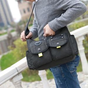 Image 2 - Men Army Messenger Bag Waterproof Nylon Satchel Shoulder Bag Casual Travel Crossbody Bags For Male Belt Handbag Man XA167ZC