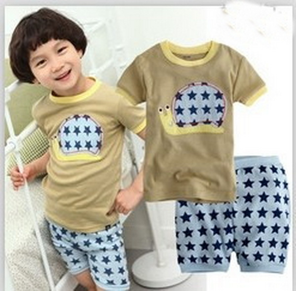 e67f03ef75e7 Children Cartoon Pajamas Sets Girls Boys Summer Pyjamas Kids Short ...