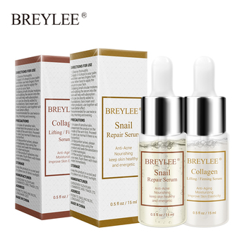 BREYLEE Snail Serum Collagen Serum Repairing Lifting Firming Essence Hyaluronic Acid Moisturizing Anti Aging Face Skin