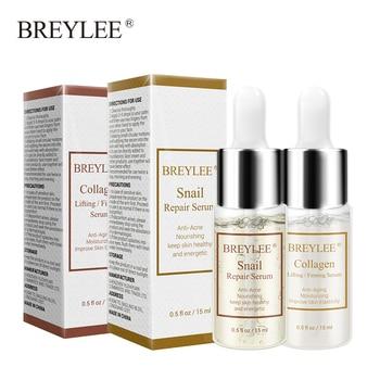 BREYLEE Snail Serum Collagen Serum Repairing Lifting Firming Essence Hyaluronic Acid Moisturizing Anti Aging Face Skin