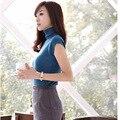 Женщина летний Корейский Версия Женщин Осень Новый Женский весна Пальто Тонкий Свитер С Высоким Воротником Пуловер Рубашка