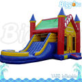 Castle Style Inflatable Bouncer With Slide For Kids Party