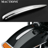 Motorcycle Chrome Front Fender Trim ABS Plastic For Harley Touring Trike Models 1984 2019 Heritage Softail 1986 2017 FLD 12 16