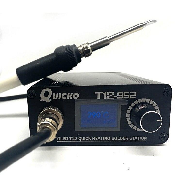 Poste à souder numérique T12 fer à souder électrique soudage Portable STC T12 OLED T12-952 poste à souder Portable