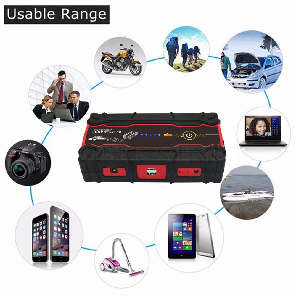 цена на 2018 High Capacity 18000mAh Car Jump Starter Power Bank 12V Portable Multi-function Start Car Charger Booster DieselSOS light