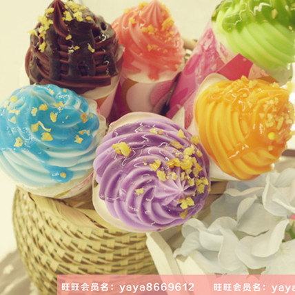 6pcs/lot Home Decoration Gift Artificial Simulation Popsicle fake food PU educational Kitchen Decor ice cream cold natural teach