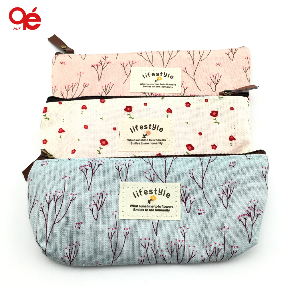 Hot Sale New Flower Floral Pencil Pen Canvas Case Cosmetic Makeup Tool Bag Storage Pouch Purse best price mgehr1212 2 slot cutter external grooving tool holder turning tool no insert hot sale brand new