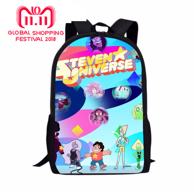 216bc23c285c steven universe with Garfield Printed Pencil Case Backpack School Bag Lun  box For Children Kids Boy Act and eat sweets together