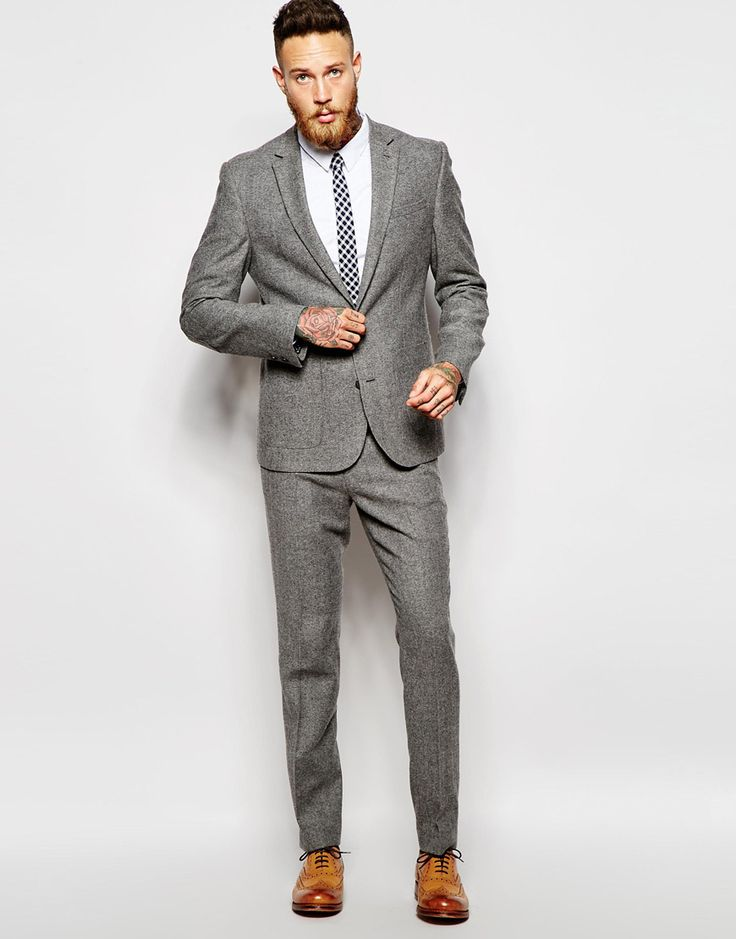 Grey Slim Suit | My Dress Tip