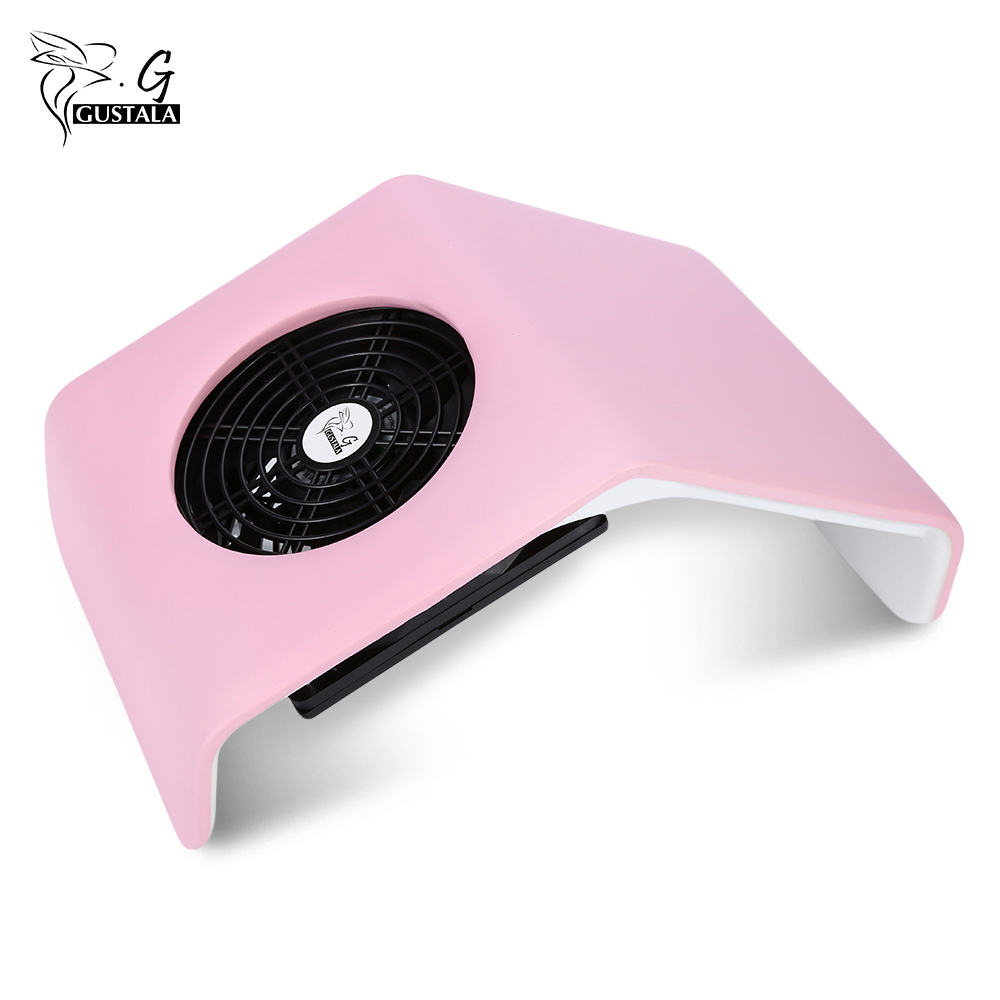 Gustala 220V/110V Nail Fan Acrylic UV Gel Dryer Machine Nail Dust Collector Art Salon Suction Dust Collector Vacuum 30W Cleaner 24w nail fan art salon suction dust collector machine vacuum cleaner salon tool acrylic uv gel machine nail dust collector