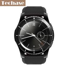 Techase Blood Press Sensible Watch Coronary heart Charge Monitor Relogio SIM/TF Card Bluetooth Wearable Units Wristband Pedometer Rastreador