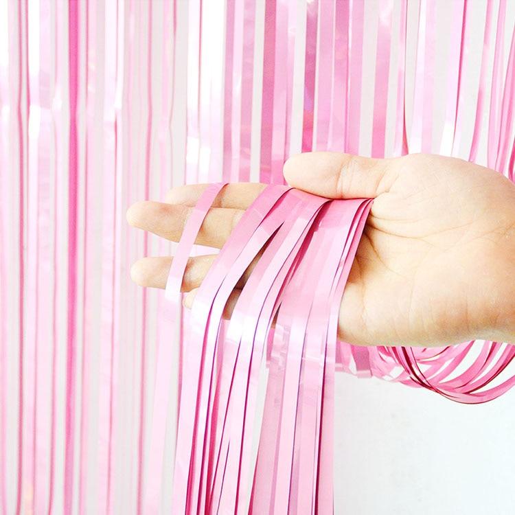 2 м девичник вечерние занавески День Рождения украшения стены Свадебные украшения день рождения украшения для взрослых - Цвет: Pink