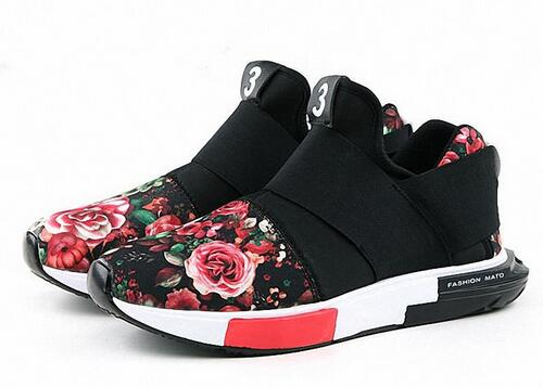 Hot Flowers Printing White Rubber Sole Couples Shoes For Lover Men With Y 3 Loubuten Shoes