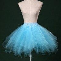 Vintage Cute Solid Color Irregular Mini Tutu Skirt Petticoat Women Girls Tulle Ball Gown Bust Skirt