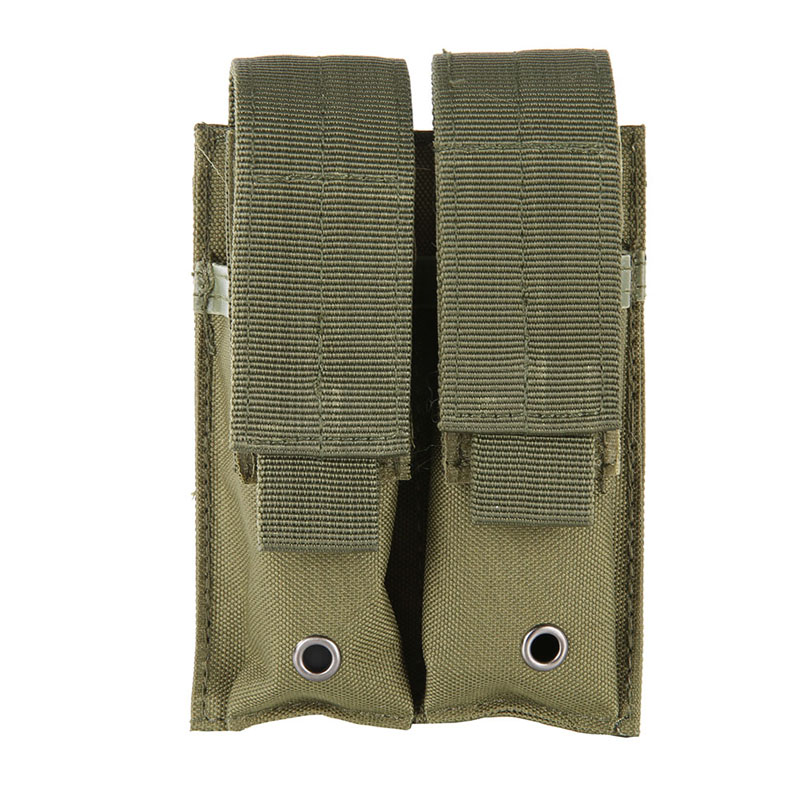 600D 9MM Molle Nylon Tactical Dual Double Pistol Mag Magazine Pouch Close Holster For Outdoor Combat Military Hunting 5 Color tactical army force leather shoulder pistol holster for 654k with magazine pouch