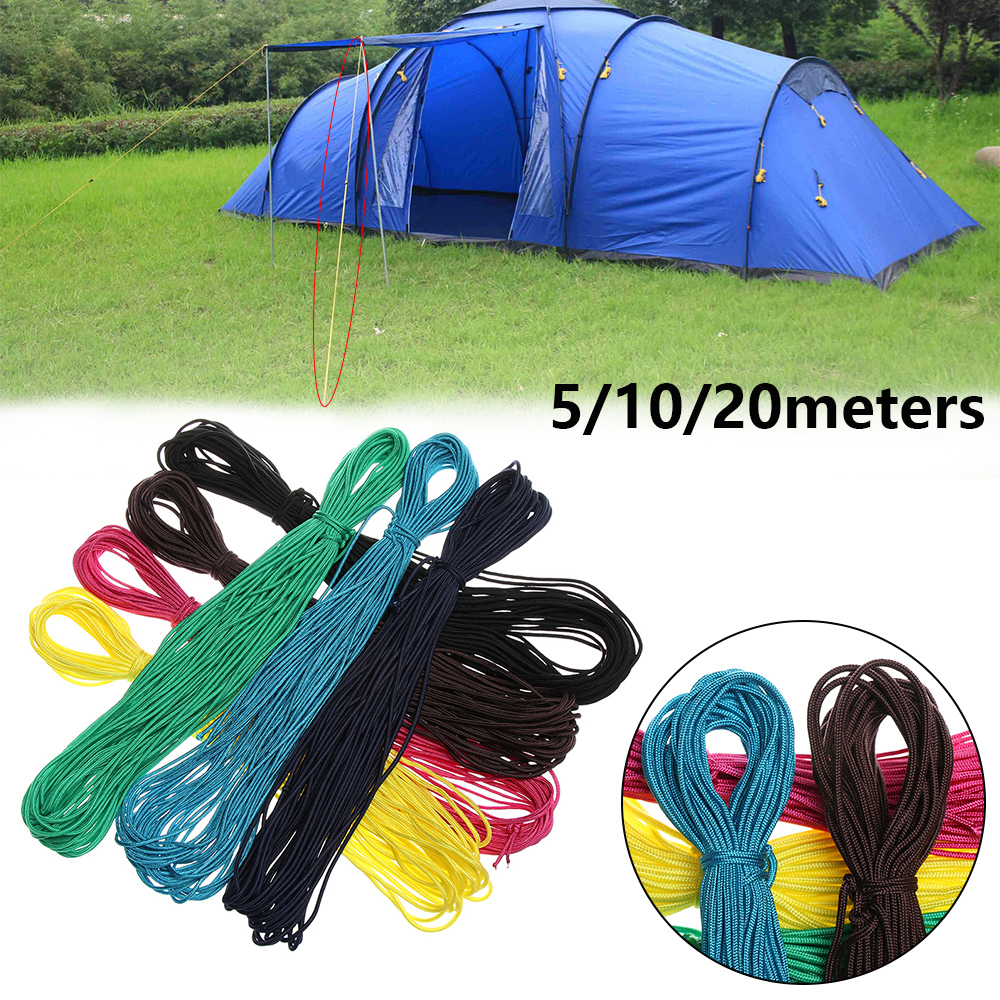 Rope Parachute Cord-Tent Survival-Kit Hiking-Diameter Camping For 2mm 12-Colors 5/10/20meters-length