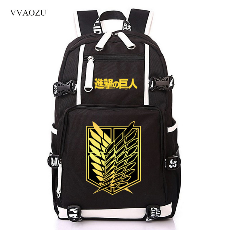 Shingeki no Kyojin Scouting Legion Anime Teenagers Student Mochila School Bag Attack On Titan Backpack Shoulder Bag Knapsack недорго, оригинальная цена