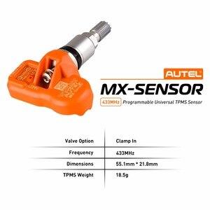Image 2 - Autelタイヤ空気圧監視センサーmxセンサー 433 433mhzのユニバーサルプログラマブルtpms 433 用フォード用bmw用土地ローバーより