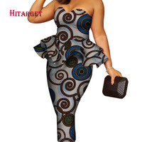 party/wedding dress with breast wipe style african print dresses Traditional dress African Dresses for Women customized WY4018