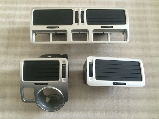 Silver For VW bora golf 4 instrument air outlet central air-conditioning air outlet,a set air outlet