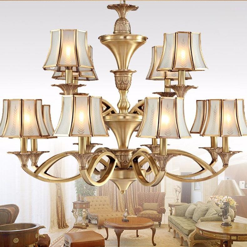 Upscale Lighting Fixtures: Copper Chandeliers Lighting Luxury Home Lighting Fixture