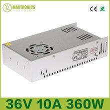 Лучшая цена В 36 В 10A Вт 360 Вт Универсальный Регулируемый импульсный источник питания для светодио дный видеонаблюдения LED радио Бесплатная доставка