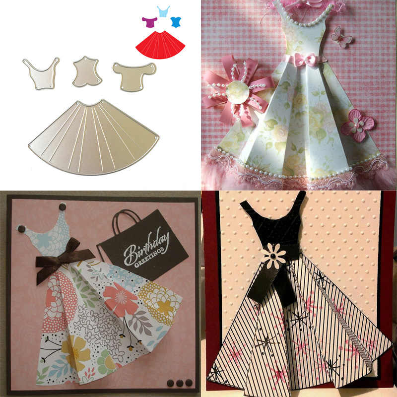 Beautiful Dress DIY Metal Cutting Dies Stencil Scrapbooking Photo Album Paper Card Making Decor Embossing Crafts Paper Crafts