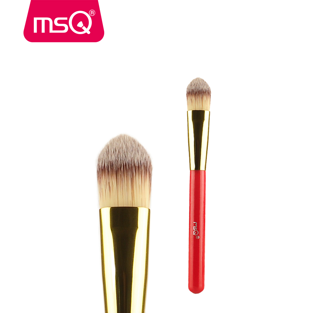 MSQ Foundation Makeup Brush BB Cream Cosmetics Make up Brushes Professional Cosmetic Make-up Brush Synthetic Hair Wood Handle professional bullet style cosmetic make up foundation soft brush golden white