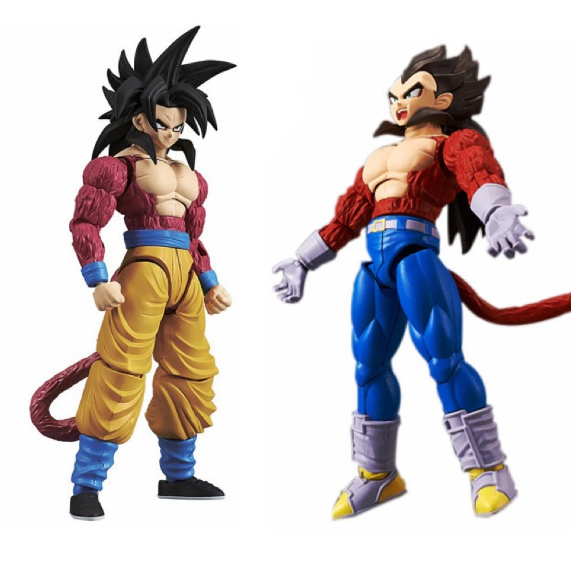 Dragon Ball Super figurine-taille Standard Super SaiYan 4 Goku végéta Kit de construction japon Anime à collectionner mascotte jouets 100% Original