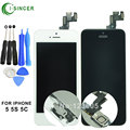 For iPhone 5S 5c 5 LCD display screen digitizer complete & inside+outside main key LCD panel, speaker, small camera, sensor flex