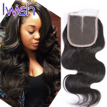 Brazilian Body Wave Lace Closure 1Piece 4×4 Inch Human Hair Closure Brazilian Virgin Hair Closure Wet Wavy Iwish Hair Closure