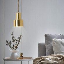 Nordic lámpara colgante individual dormitorio cabecera Bar lámpara colgante moderna lámpara colgante accesorio de iluminación para comedor habitación/sala de estudio