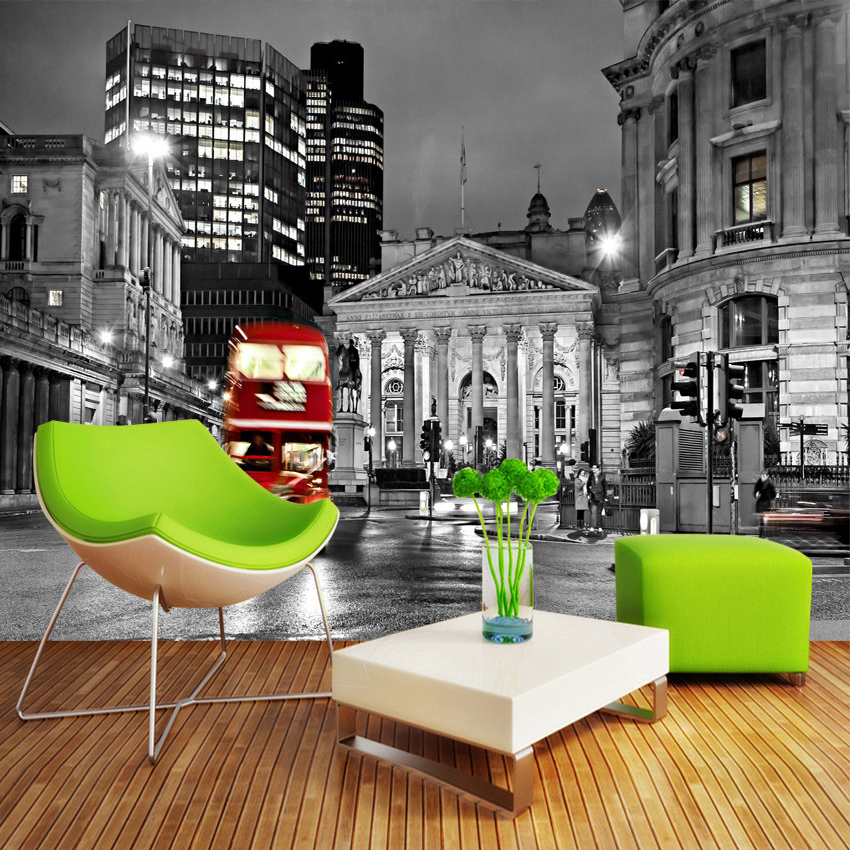 Custom 3D Photo Wallpaper European Black And White City Street View Living Room Bedroom Mural Wallpaper Home Decoration Wall Art custom mural wallpaper european style 3d stereoscopic new york city bedroom living room tv backdrop photo wallpaper home decor