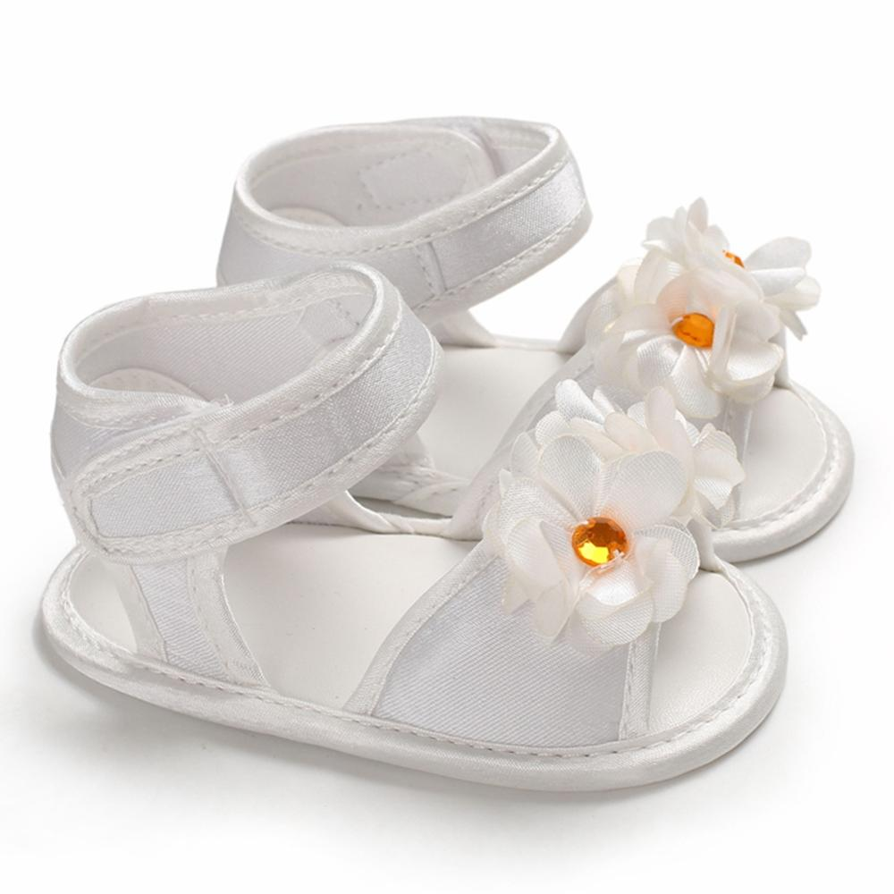 Summer Baby Girls Breathable Anti-Slip Shoes Flower Toddler Soft Soled First Walkers 0-18M New